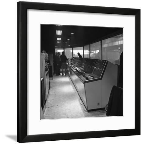 Steelworks Control Centre, Park Gate Iron and Steel Co, Rotherham, South Yorkshire, 1964-Michael Walters-Framed Art Print