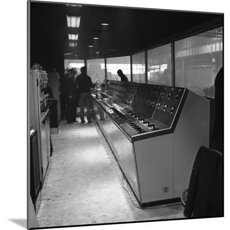 Steelworks Control Centre, Park Gate Iron and Steel Co, Rotherham, South Yorkshire, 1964-Michael Walters-Mounted Photographic Print