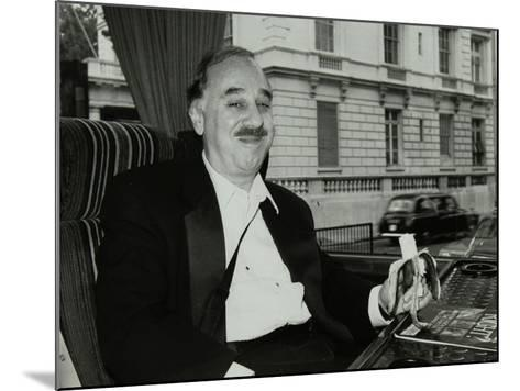 Guitarist Chuck Christiansen Travelling by Coach to the Royal Albert Hall, London, 28 May 1992-Denis Williams-Mounted Photographic Print