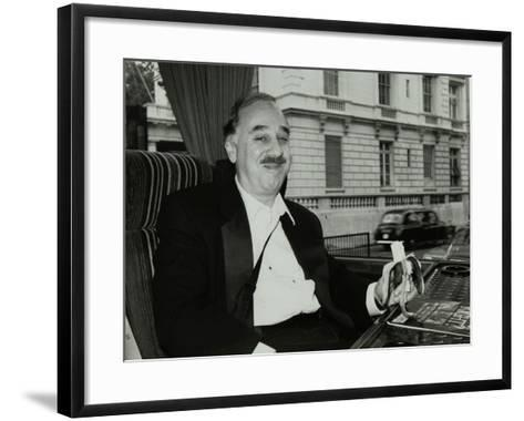 Guitarist Chuck Christiansen Travelling by Coach to the Royal Albert Hall, London, 28 May 1992-Denis Williams-Framed Art Print