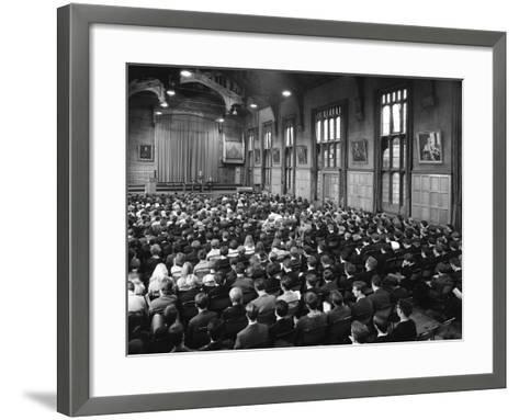 Sixth Form Conference, Sheffield University, Sheffield, South Yorkshire, 1967-Michael Walters-Framed Art Print