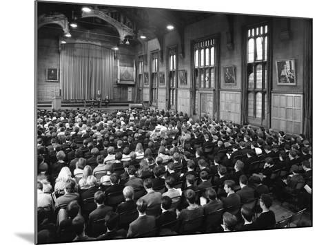 Sixth Form Conference, Sheffield University, Sheffield, South Yorkshire, 1967-Michael Walters-Mounted Photographic Print