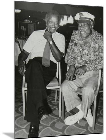 Freddie Green and Count Basie at the Grosvenor House Hotel, London, 1979-Denis Williams-Mounted Photographic Print