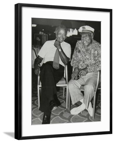 Freddie Green and Count Basie at the Grosvenor House Hotel, London, 1979-Denis Williams-Framed Art Print