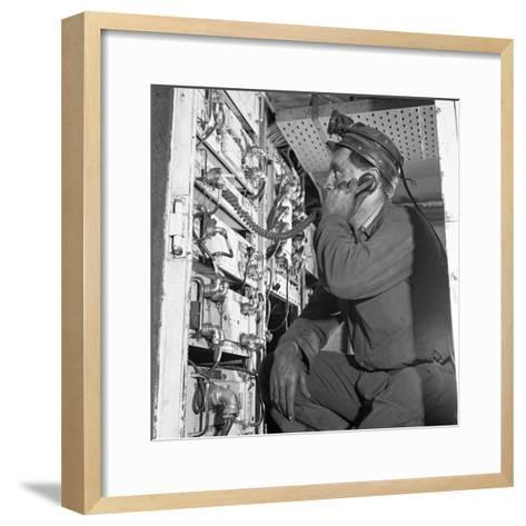 Comunications, a Miner from Bevercotes Colliery, Nottinghamshire, 1967-Michael Walters-Framed Art Print
