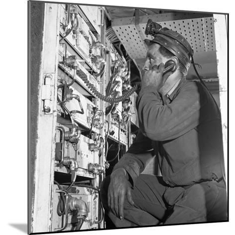 Comunications, a Miner from Bevercotes Colliery, Nottinghamshire, 1967-Michael Walters-Mounted Photographic Print
