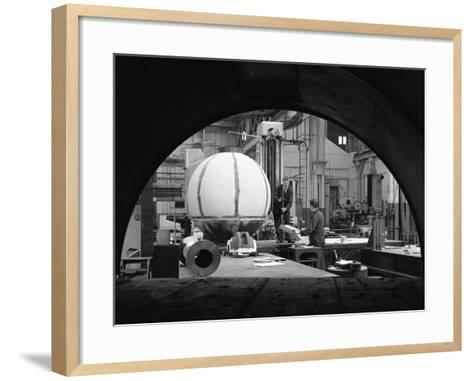 Construction of Deep Sea Inspection Chambers, Markham and Co, Chesterfield, Derbyshire, 1966-Michael Walters-Framed Art Print