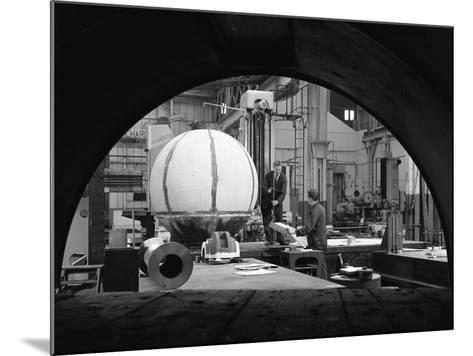 Construction of Deep Sea Inspection Chambers, Markham and Co, Chesterfield, Derbyshire, 1966-Michael Walters-Mounted Photographic Print