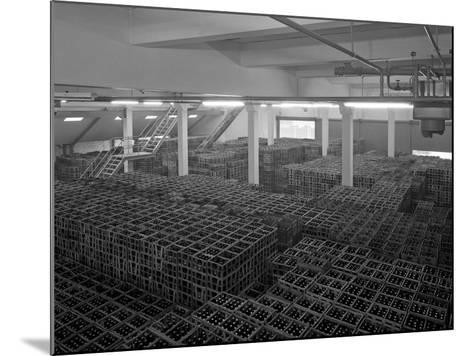 Warehouse Full of Crates of Bottles, Ward and Sons, Swinton, South Yorkshire, 1960-Michael Walters-Mounted Photographic Print