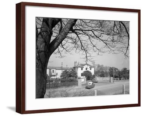 Two Bond Disabled Cars Outside the Ciswo Paraplegic Centre, Pontefract, West Yorkshire, 1960-Michael Walters-Framed Art Print