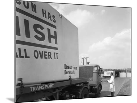 Bacon Delivery from Denmark, Kilnhurst, South Yorkshire, 1964-Michael Walters-Mounted Photographic Print