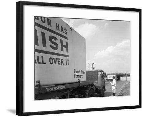 Bacon Delivery from Denmark, Kilnhurst, South Yorkshire, 1964-Michael Walters-Framed Art Print