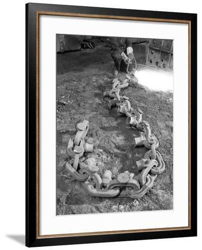 Cutting Off Lead from a Manganese Chain Casting, Sheffield, South Yorkshire, 1965-Michael Walters-Framed Art Print