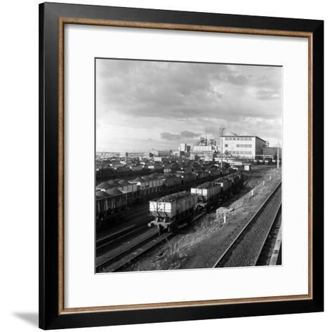 Rail Trucks Loaded with Coal Leaving Lynemouth Colliery, Northumberland, 1963-Michael Walters-Framed Art Print
