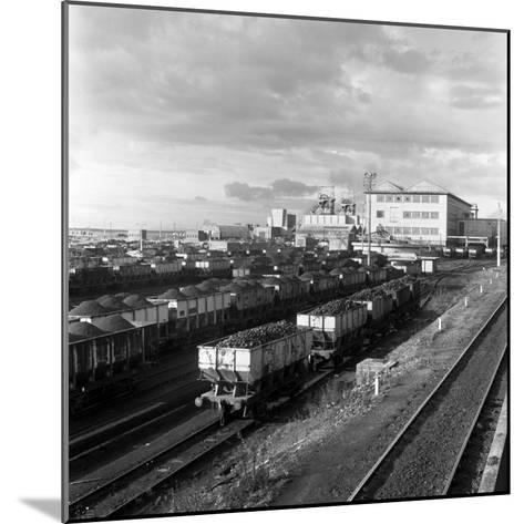 Rail Trucks Loaded with Coal Leaving Lynemouth Colliery, Northumberland, 1963-Michael Walters-Mounted Photographic Print