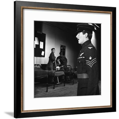 A Scene from the Terence Rattigan Play, Ross, Worksop College, Nottinghamshire, 1963-Michael Walters-Framed Art Print