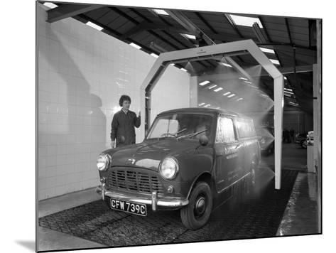 Mini Van Being Washed in a Car Wash, Co-Op Garage, Scunthorpe, Lincolnshire, 1965-Michael Walters-Mounted Photographic Print