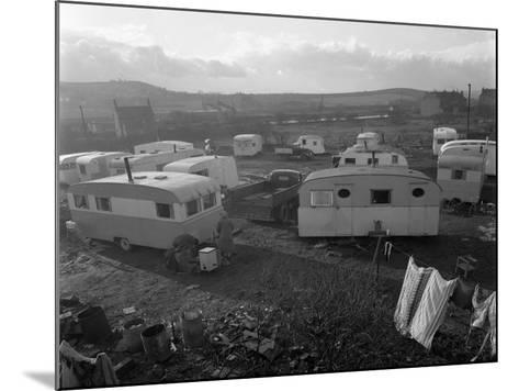 Caravan Site, Mexborough, South Yorkshire, 1961-Michael Walters-Mounted Photographic Print