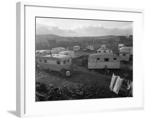 Caravan Site, Mexborough, South Yorkshire, 1961-Michael Walters-Framed Art Print