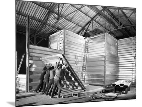 Constructing a New Grain Silo in Navenby, Lincolnshire, 1962-Michael Walters-Mounted Photographic Print
