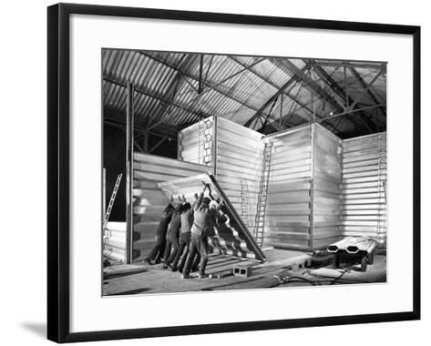 Constructing a New Grain Silo in Navenby, Lincolnshire, 1962-Michael Walters-Framed Art Print