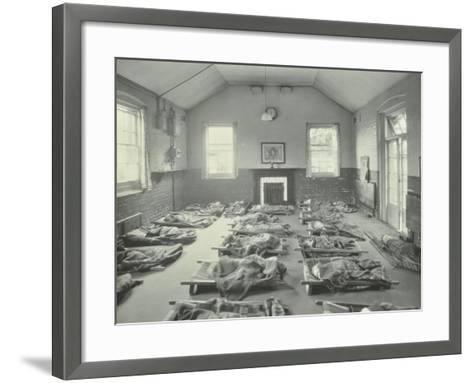 Young Children Asleep at Mitcham Residential School, London, 1931--Framed Art Print