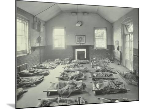 Young Children Asleep at Mitcham Residential School, London, 1931--Mounted Photographic Print