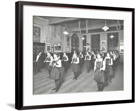 Students in the Gymnasium, Ackmar Road Evening Institute for Women, London, 1914--Framed Art Print