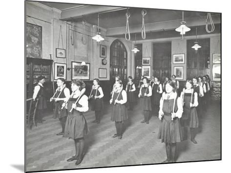 Students in the Gymnasium, Ackmar Road Evening Institute for Women, London, 1914--Mounted Photographic Print