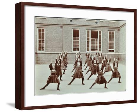 Girls Exercise Drill, Montem Street School, Islington, London, 1906--Framed Art Print