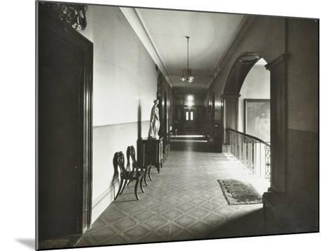 First Floor Corridor, Bethlem Royal Hospital, London, 1926--Mounted Photographic Print