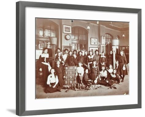 Girls Sports Club Members, Cromer Street School/Argyle School, St Pancras, London, 1906--Framed Art Print