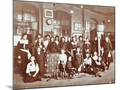 Girls Sports Club Members, Cromer Street School/Argyle School, St Pancras, London, 1906--Mounted Photographic Print