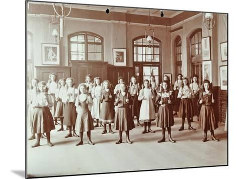 Girls Holding Indian Clubs, Cromer Street School/ Argyle School, St Pancras, London, 1906--Mounted Photographic Print
