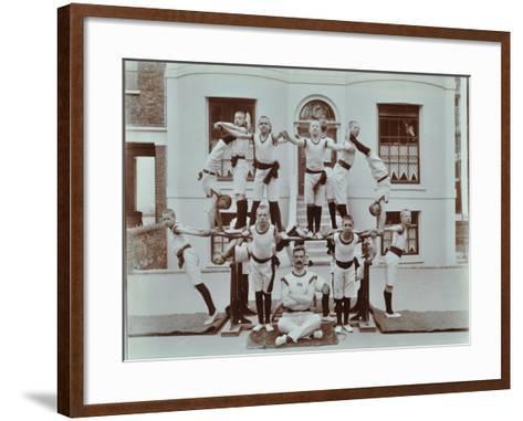 Gymnastics Display at the Boys Home Industrial School, London, 1900--Framed Art Print