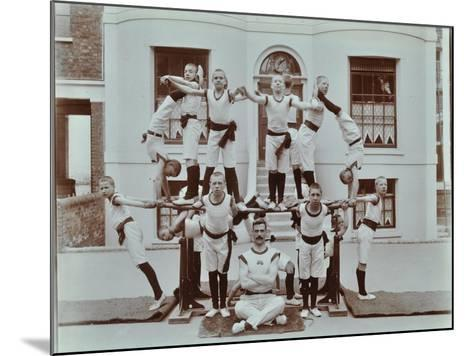 Gymnastics Display at the Boys Home Industrial School, London, 1900--Mounted Photographic Print