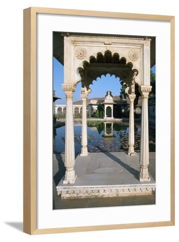Jag Mandir, Udaipur, Rajasthan, India-Vivienne Sharp-Framed Art Print