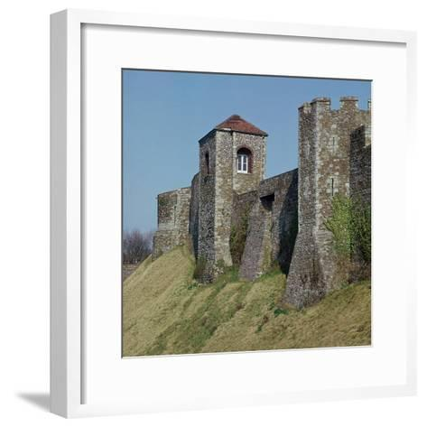 Dover Castle Walls, 12th Century- William the Conqueror-Framed Art Print