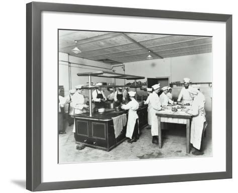 Male Cookery Students, Westminster Technical Institute, London, 1910--Framed Art Print