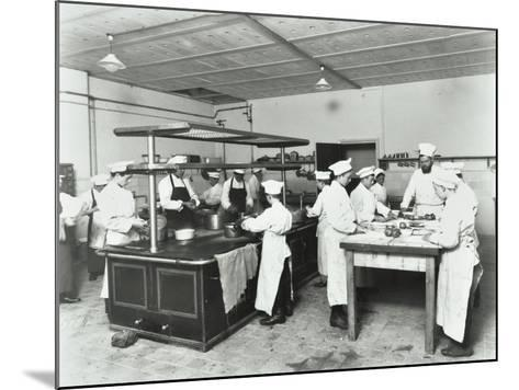 Male Cookery Students, Westminster Technical Institute, London, 1910--Mounted Photographic Print
