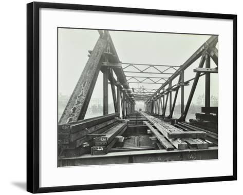 Erection of Emergency Thames Bridge, London, 1942--Framed Art Print