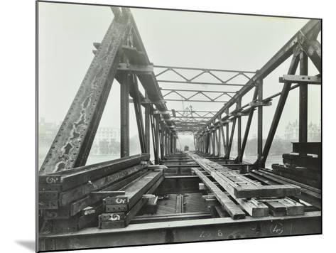 Erection of Emergency Thames Bridge, London, 1942--Mounted Photographic Print