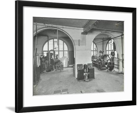 Mechanical Laboratory, Battersea Polytechnic, London, 1912--Framed Art Print