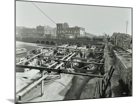 Building the Sewer at Stratford High Street, West Ham, London, 1905--Mounted Photographic Print