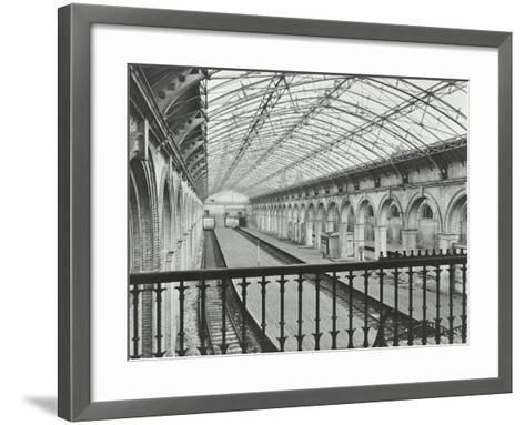 Crystal Palace Station, Crystal Palace Parade, Bromley, London, 1955--Framed Art Print