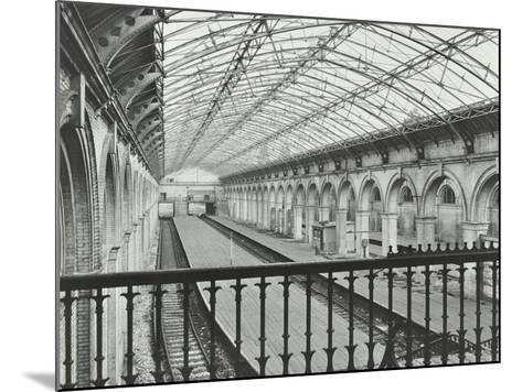Crystal Palace Station, Crystal Palace Parade, Bromley, London, 1955--Mounted Photographic Print