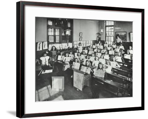 Nature Lesson, Albion Street Girls School, Rotherhithe, London, 1908--Framed Art Print