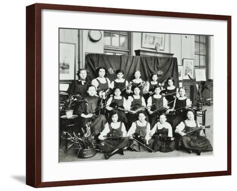 Violinists, Myrdle Street Girls School, Stepney, London, 1908--Framed Art Print