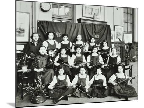 Violinists, Myrdle Street Girls School, Stepney, London, 1908--Mounted Photographic Print