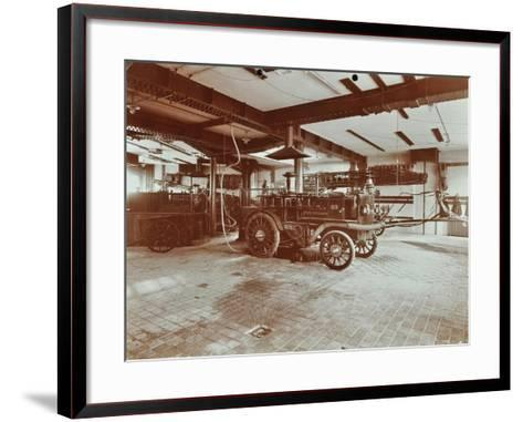 Fire Engine at Cannon Street Fire Station, Cannon Street, City of London, 1907--Framed Art Print